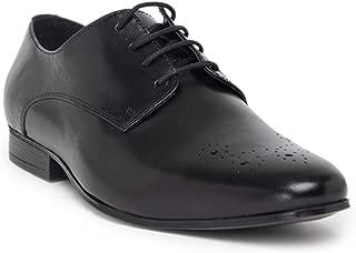 NOBLE CURVE Black Leather Derby Shoes