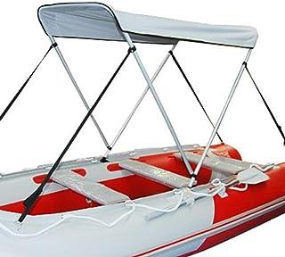 PKA Toldo impermeable Bimini superior plegable de aleación de aluminio para barco trasero, toldo UV