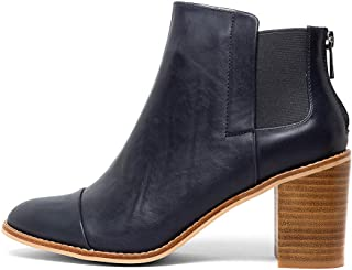 NUDE Ally-NU Womens Shoes Block Heel Boots Ankle Boots