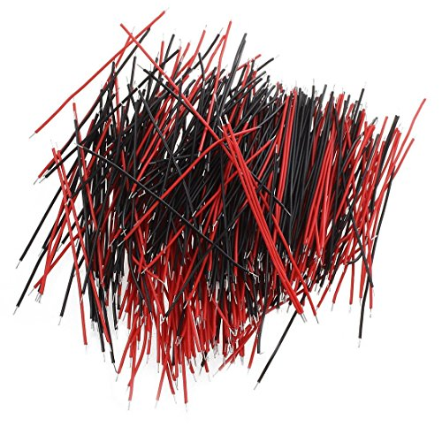 Haobase 400Pcs Jumper Cable BreadBoard fil electronique Essai Solderless Arduino Wire 7cm