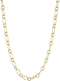 "18K Alternating Link 26"" Chain Necklace"
