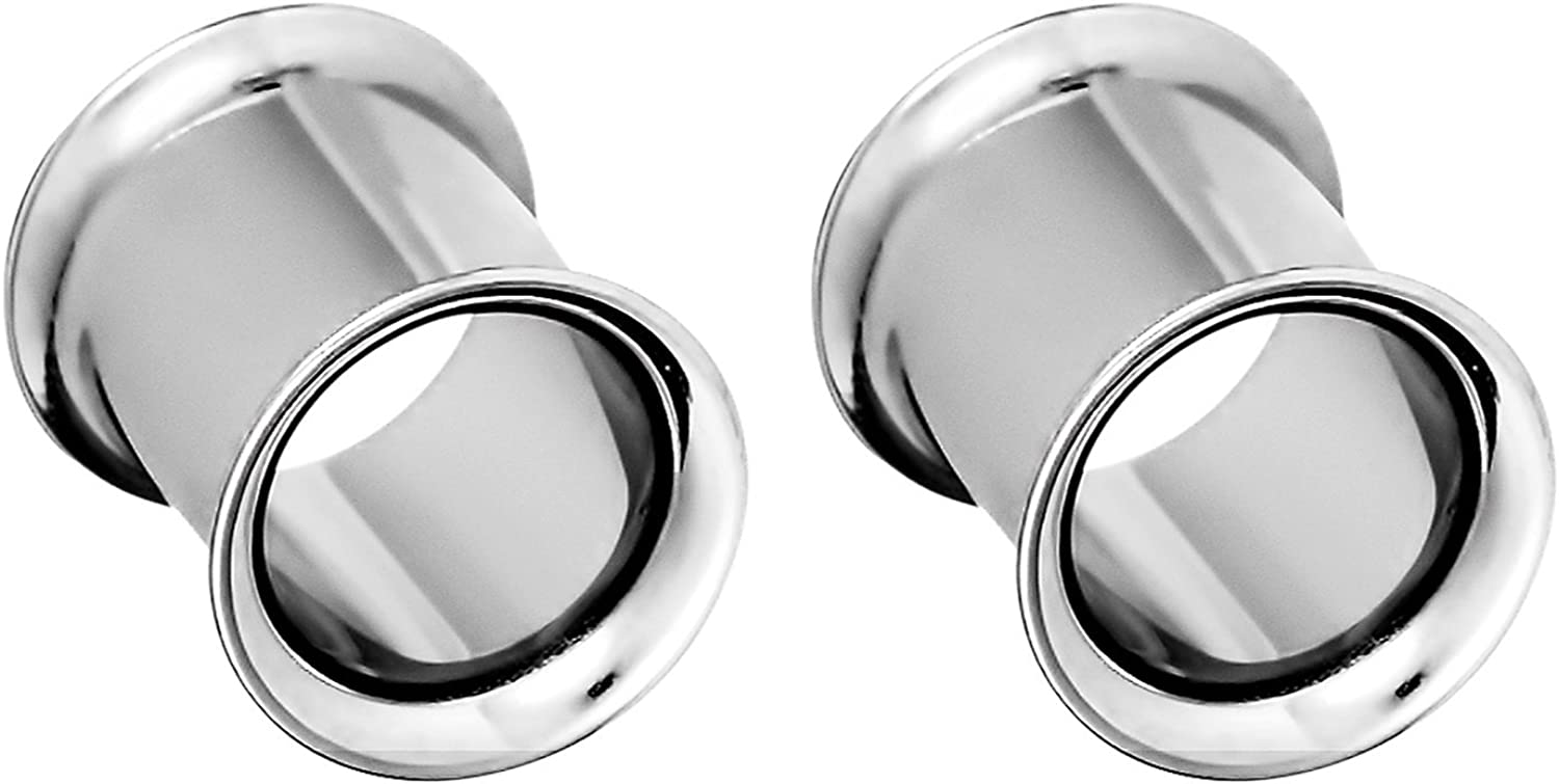 Forbidden Body Jewelry Popular brand in the world Surgical Steel Omaha Mall Flared Ear Gauges Double