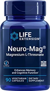 Life Extension Neuro-Mag Magnesium L-Threonate, 90 Vegetarian Capsules Ultra-Absorbable Magnesium - Memory, Focus & Overal...
