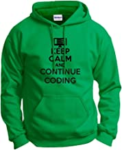 ThisWear Keep Calm and Continue Coding Computer Programmer Hoodie Sweatshirt
