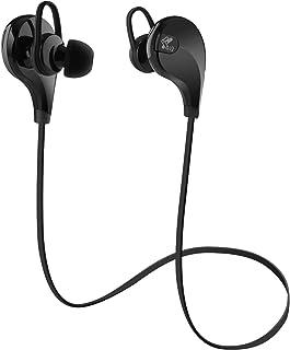 サウンドピーツ QY7 イヤホン ヘッドセット ハンズフリー通話 CVC6.0ノイズキャンセリング 音漏れ防止機能 ワイヤレス Bluetooth ヘッドホン ブラック