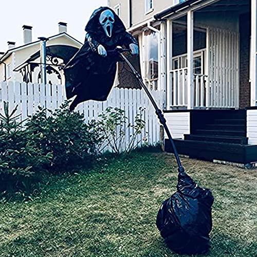 Ghostface Vogelscheuche,Scream Ghostface Horror Halloween Party Dekoration Vogelscheuche Dekoration Für Garten Halloween-Dekorationen