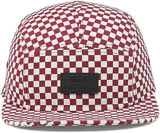 Vans - Davis 5 Panel HAT [VN000UM2RLM] Red/White Checkerboard OS