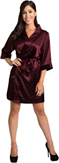 Satin Bridal Party Robes - Available in 34 Colors and Variety of Sizes- Bride & Bridesmaid Wedding Party Kimono Robe