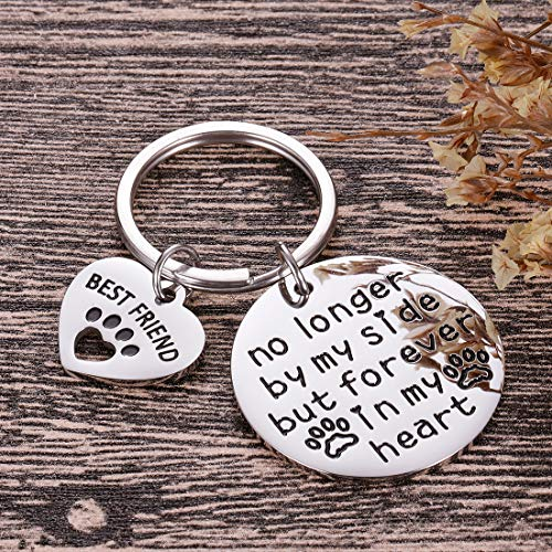 Pet Cat Dog Memorial Keychain Gifts for Pet Owner Dog Mom Dad Remembrance Memory Sympathy Gifts for Loss of Dog Pet Loss Gifts Keepsake for Dog Lover Forever in My Heart Paw Print Keyring Photo #6