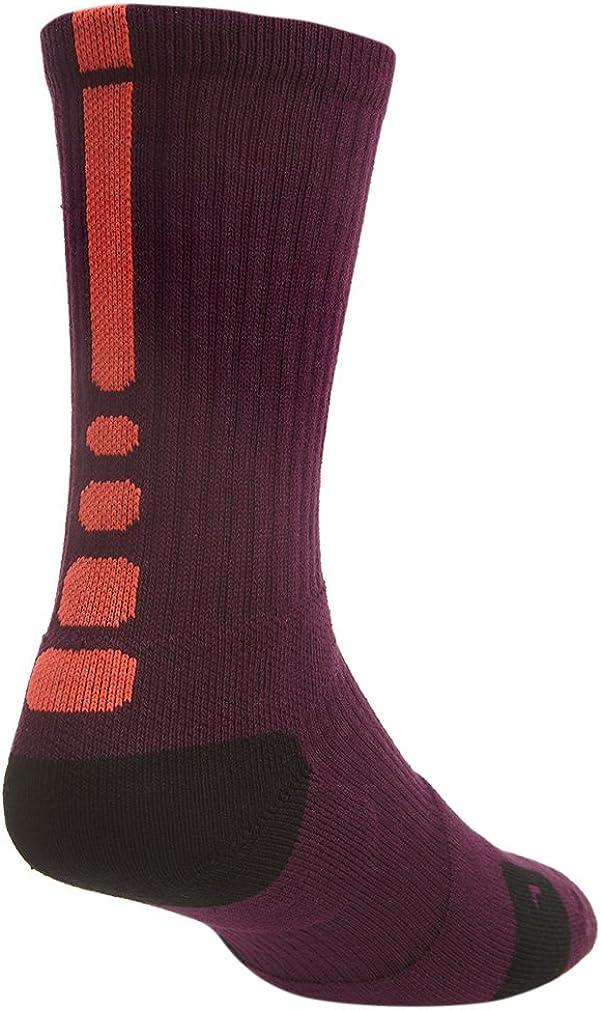 Nike Unisex Elite Basketball Crew Mulberry/Bright Crimson/Bright