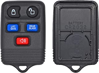 qualitykeylessplus Replacement Case Shell Housing and Button Pad for Ford 5 Button Keyless Entry Remotes with FCC ID CWTWB...