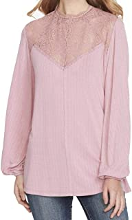 Jessica Simpson Girl's Juniors' Lace-Inset Split-Sleeve Blouse