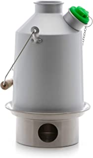 Kelly Kettle Scout 41 oz. Anodized Aluminum (1.2 LTR) Rocket Stove Boils Water Ultra Fast with just Sticks/Twigs. Enables You to Rehydrate Food or Cook a Meal. for Camping, Fishing, Emergency