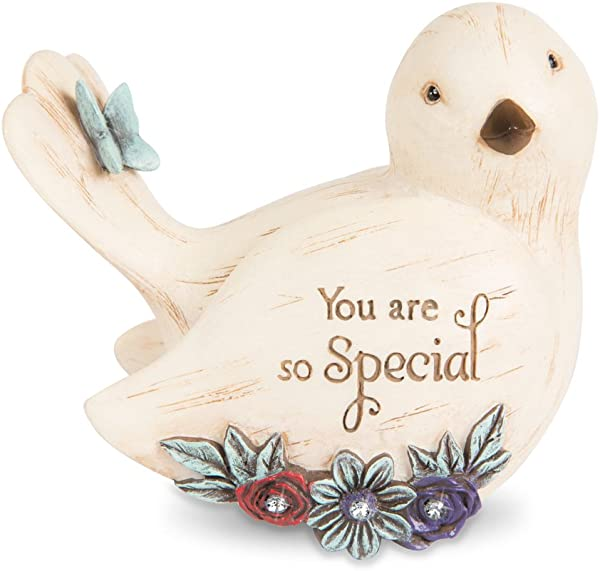 Pavilion Gift Company Decorative You Are So You Are So Special Floral Bird Figurine 3 5 Inch