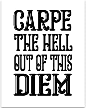 Carpe The Hell Out of This Diem - 11x14 Unframed Typography Art Print - Great Wall Art Decor