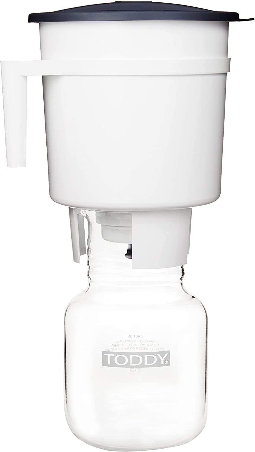 Toddy® Cold Brew System - Staycation Edition, white, 7.25 x 7.25 x 12.5 inches