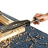 """The built-in pin fits 3/8"""" pocket hole while the pocket hole jig tightens the joint. 3"""" wide stock capacity allows for easy clamping and perfect surface alignment for pocket hole joints every time. Thread rod is in exquisite workmanship. And there is..."""