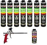 Lot de 7cartouches de 750ml de mousse polyuréthane monocomposante de construction/montage pour pistolet + 1nettoyant + 1pistolet