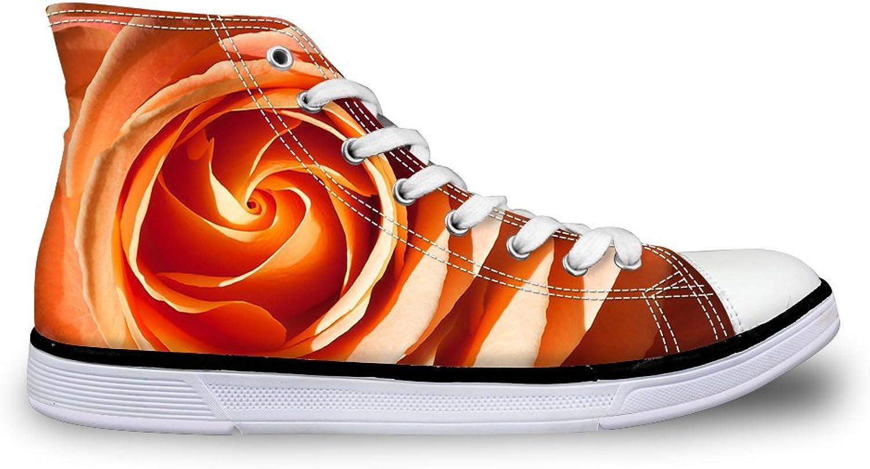LedBack Fashion Women High Top Canvas shoes Flat Sneakers 3D Pattern Ultra Light Trainers Unisex Black