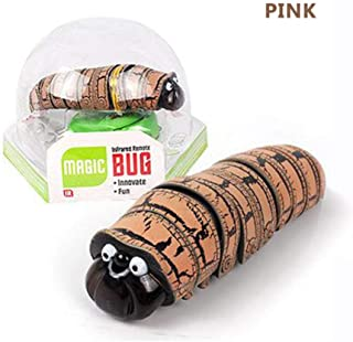 LYPYY Electric Caterpillars Fake Insect Remote Control Caterpillars Creative Electric Animal Prank Toys Trick Funny Kids Gifts Pink