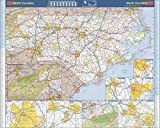 LARGE NORTH CAROLINA MAP: Large 36x46 wall map size ROLLED NC WALL MAP: Our North Carolina wall map series are always rolled - never folded LAMINATED NORTH CAROLINA WALL MAP: Heavy duty two-sided 3mil lamination for years of durability and dry-erase ...