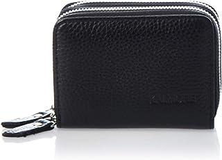 محفظة صغيرة للنساء من الجلد الطبيعي مع خاصية مقاومة الموجات الراديوية، واسعة وظريفة وبسحاب للإغلاق لحفظ البطاقات.