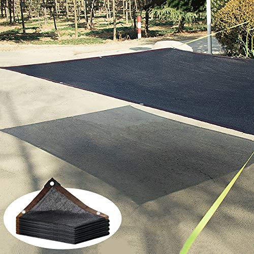 ZXCVASDF 85-90% Toldo Vela de Sombra, Negro Malla Sombreadora, paño de Sombra con Ojales, Red de Sombreado para Invernadero, Jardines, Piscina, Fácil de Colgar, Personalizado,5x5m(16 * 16ft)