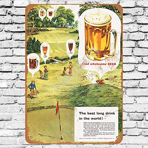 Henson 1956 Goede Groothandel Bier en Golf Traditionele vintage Tin Teken Logo 12 * 8 Advertising Eye-Catching Muurdecoratie