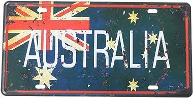 Vosarea Plate Tin Signe Art Plaque en Metal Vintage Décoratif Signes Tin Métal Fer Signe De Voiture Peinture pour Mur Accueil
