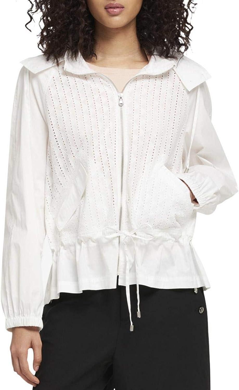 DKNY Womens Eyelet Hooded Basic Jacket