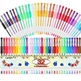 Gel Pens, Caliart 32 Colors Gel Pen Set, 40% More Ink Colored Gel Markers Fine Point Pens for Kids Adult Coloring Books, Drawing, Doodling, Crafting, Journaling, Scrapbooking
