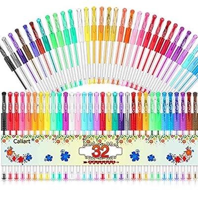 Gel Pens, Caliart 32 Colors Gel Pen Set, 40% Mo...