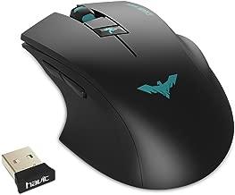 HAVIT Ergonomic Wireless Mouse 2.4GHz Optical Vertical Mouse with 3 Adjustable DPI 800/1200/ 1600, 6 Buttons (Matte Black)