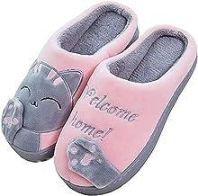 ChayChax Nette Winter Baumwolle Hausschuhe Warme Pl/üsch Pantoffeln Schlappen Weiche rutschfeste Indoor Hause Slipper mit Cartoon Katze f/ür Herren Damen Kinder