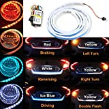 Trunk Lights - 4 Color Flow Type LED Strip Tailgate Turning Signal Lights Bar Trunk Strips Lamp Flowing Side Rear Light 120cm 47