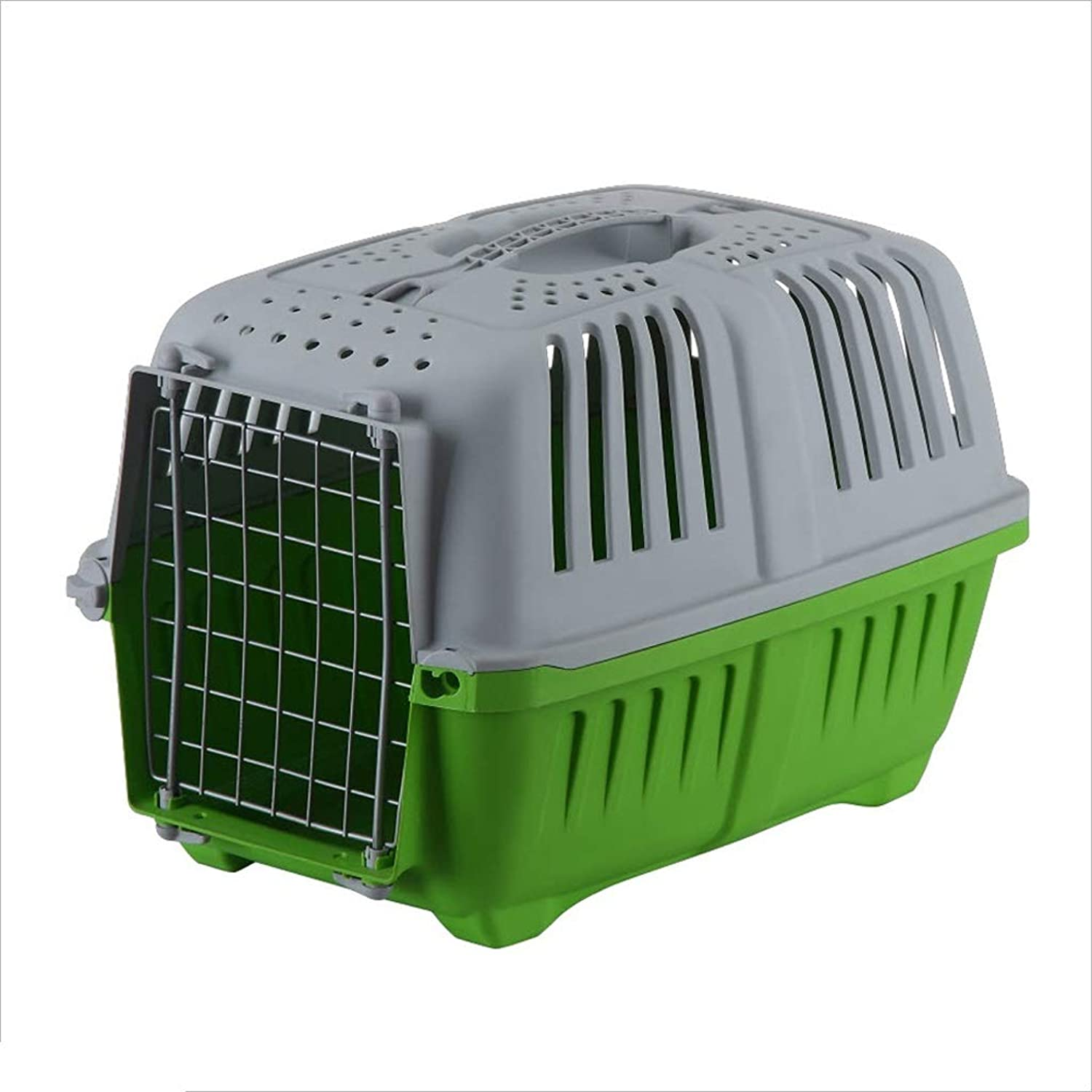 Pet Carrier, Large Portable Dog Cat Consignment Cage Box Rabbit Cage, 18.5x11.8x13.8 Inches,3 colors Optional (color   RED)