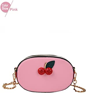 Lady Pu Leather Women Messenger Bags Cherry Shoulder Bags Crossbody Bags