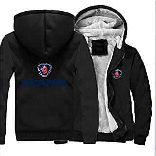 Mens Hoodie Jacket Hooded Sweater Voor Scania Print Casual Rits Warme Tiener Sweatshirt Stitching Lange Mouw Jas - Valenti...
