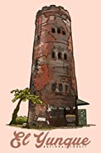 Puerto Rico - Yokahu Observation Tower - El Yunque National Forest (16x24 Fine Art Giclee Gallery Print, Home Wall Decor Artwork Poster)