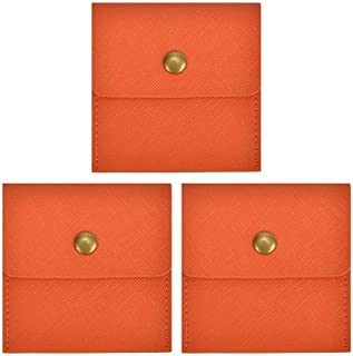 Portátil Bolsa De Ceniza, Z-Ash Moderno Mini Cenicero A Prueba De Viento Papelera De Cigarrillos (3 Piezas) (Color : Orange)
