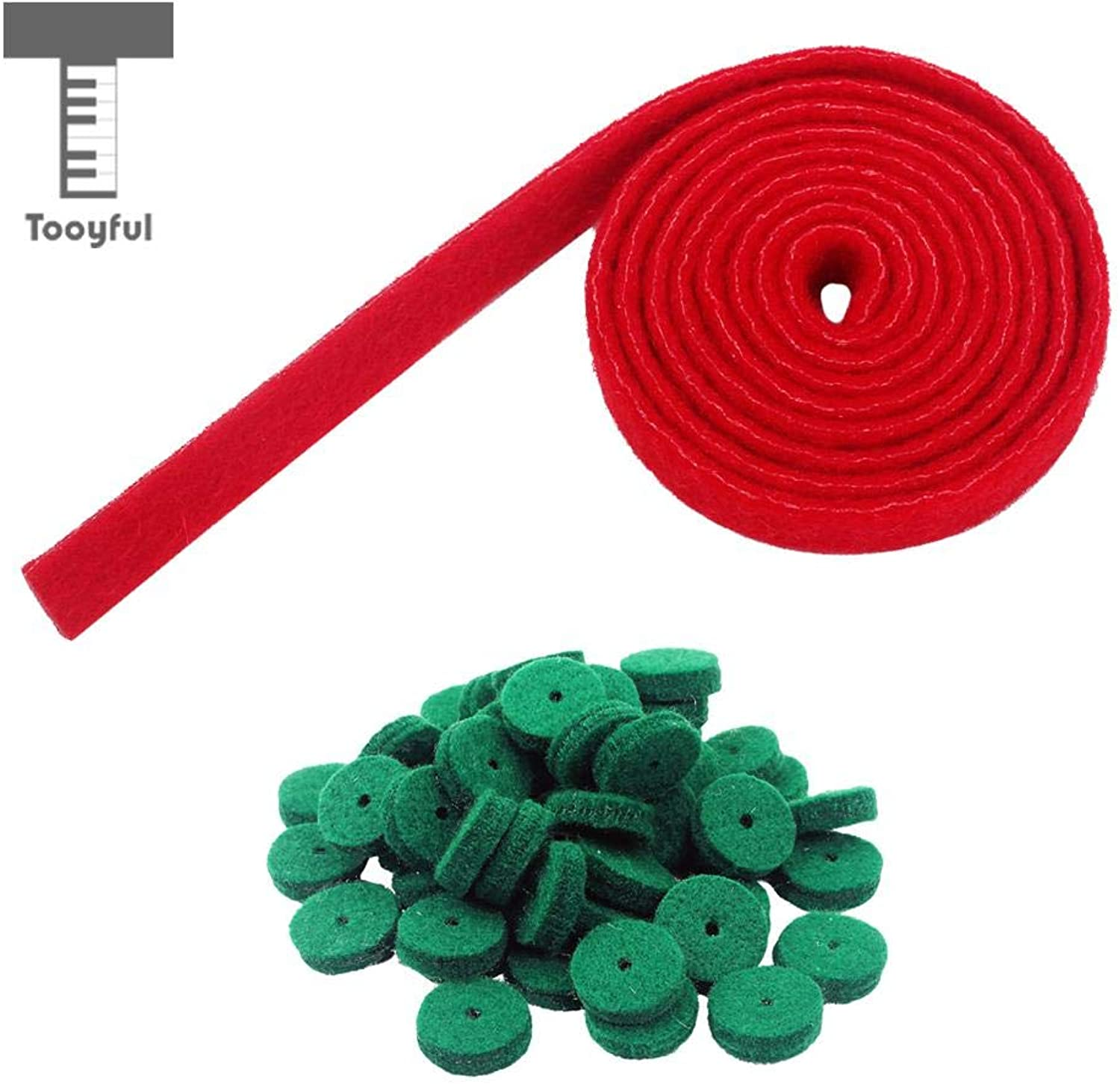 SalaFnt  Piano Tuning Felt Temperament Strip Red+ 90 Pcs Regulating Tool Balance Rail Green for Pianist
