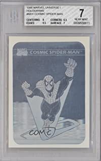 Cosmic Spider-Man BGS GRADED 7 (Trading Card) 1990 Impel Marvel Comics Super Heroes - Holograms #MH1