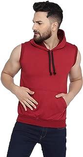 Rockhard Hooded Neck Sleeveless Solid Men Jacket