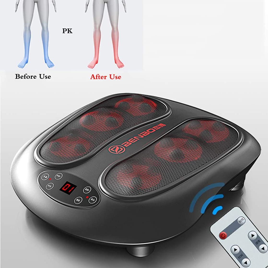 きしむ足枷人電気足マッサージ機ディープニーディングセラピー足底筋膜炎、つま先、足アーチの痛みとストレスを和らげますホームオフィス用
