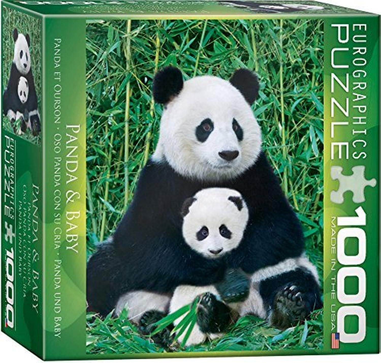 Obtén lo ultimo Panda and Baby Puzzle, 1000-Piece 1000-Piece 1000-Piece by EuroGraphics  tienda