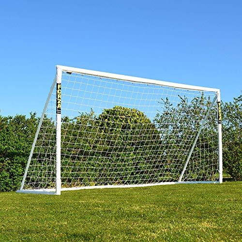 FORZA 3,7m x 1,8m But de Football PVC Imperméable avec Système de Verrouillage (Sac de Transport, Mur de Tir & Ballon en Option) (But Seul)
