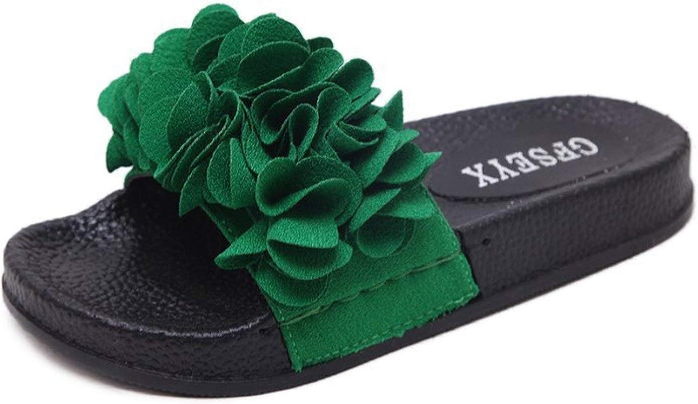 Women's Sweet Flower Open Toe Platform Slide Sandals Ladies Fashion Slipper Summer Comfort Casual Flats