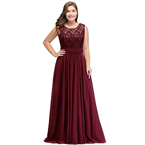 Long Burgundy Maid of Honor Dresses: Amazon.com