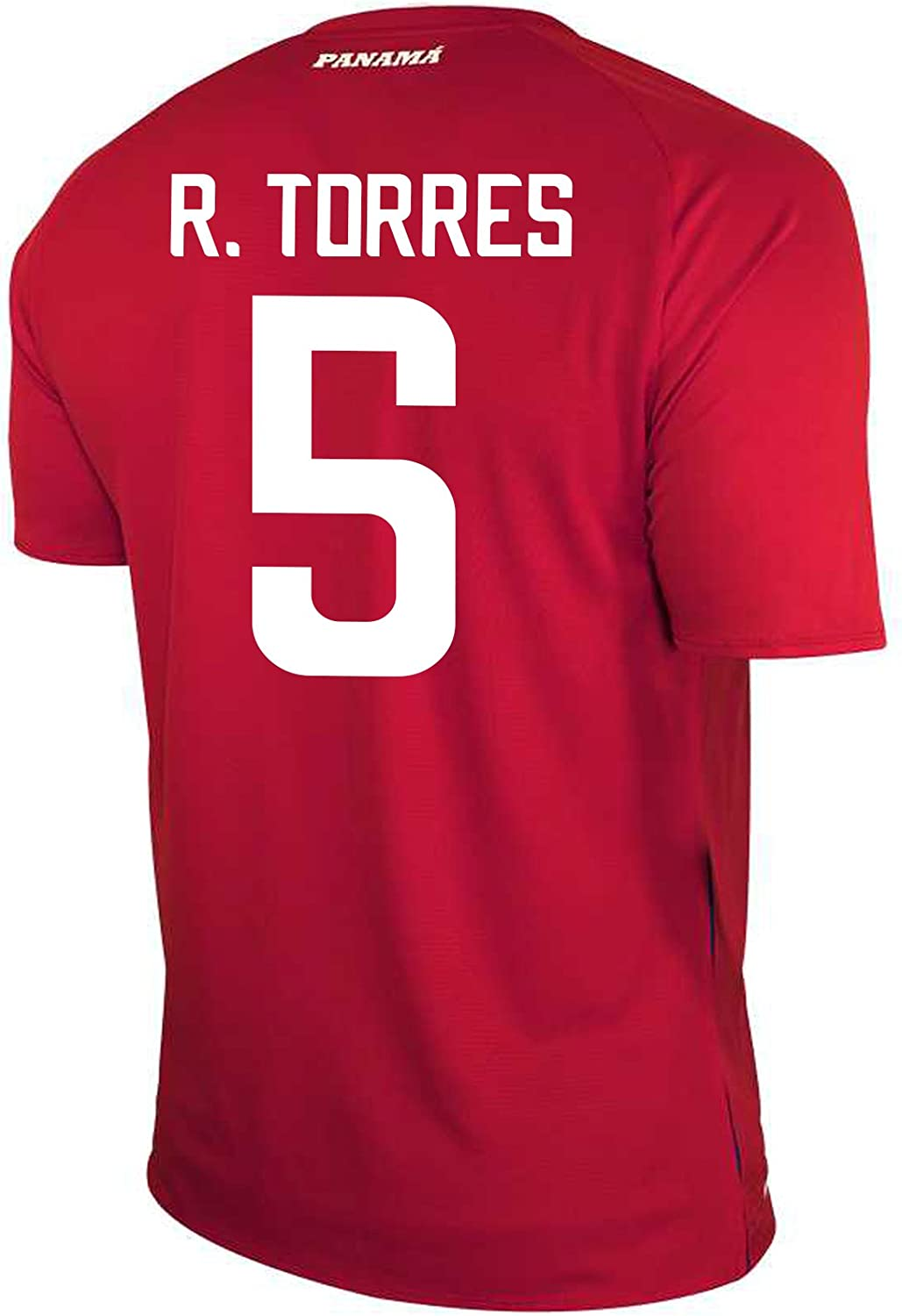 New Balance R. Torres  5 Panama Home Soccer Men's Jersey FIFA World Cup Russia 2018