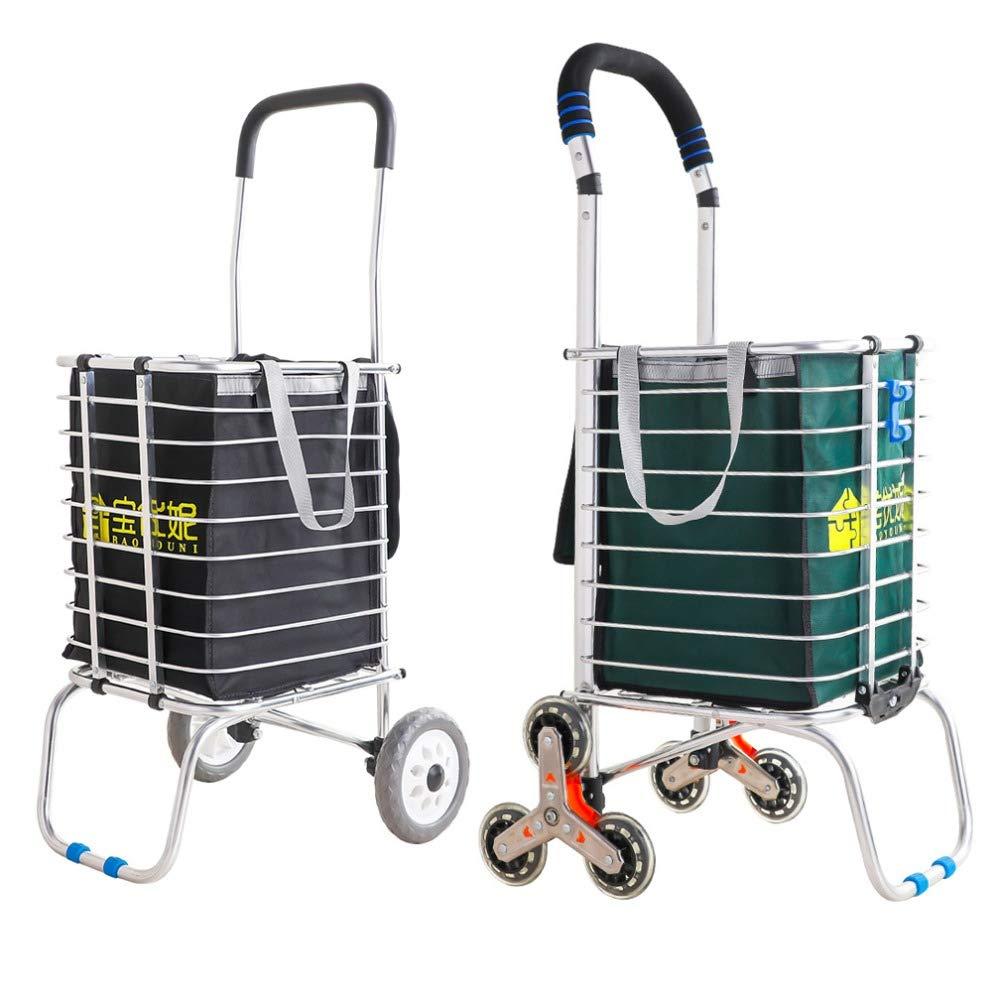 GFKSMS Ancianos Carro Transporte Carrito Subir escaleras Cesta de la Compra de comestibles con Las Ruedas Viejo portátil de Rod del tirón Carrito de supermercado,1: Amazon.es: Hogar